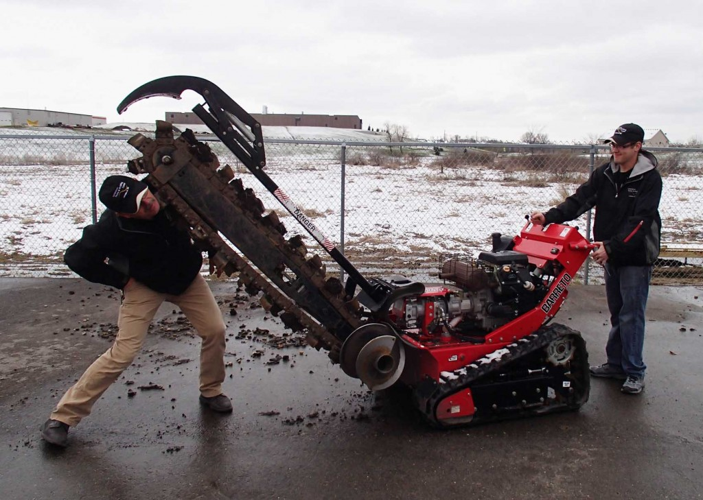 "Rental 48"" trencher"