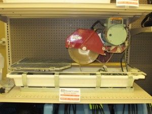 rental 12-1005 MK Tile wet saw 10in