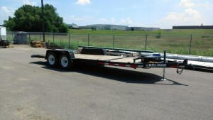 rental 02-1006: 20' hydraulic tilt bed trailer