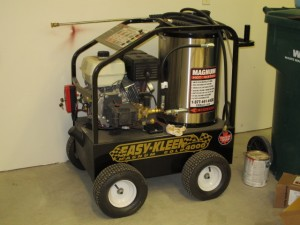 rental 21-1002 4000 PSI Gas Pressure Washer hot water