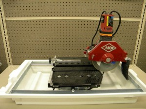 rental MK Tile Wet Saw 7