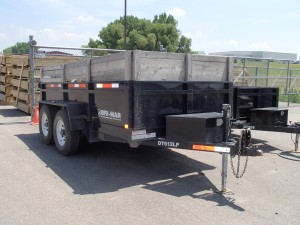 rental 4.5 yard dump trailer