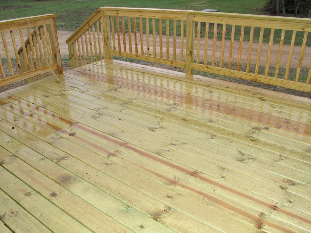 Image gallery treated deck for Pressure treated decking
