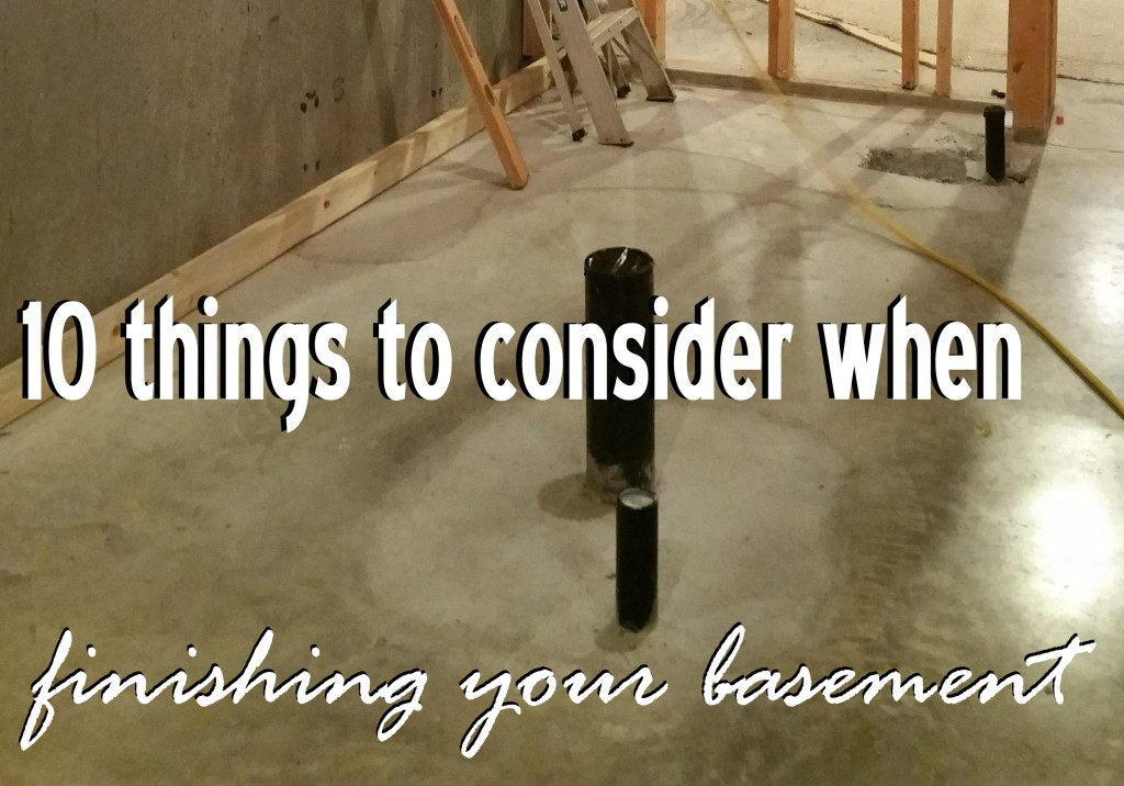 10 things to consider when finishing your basement